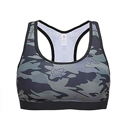 Zxl-yf Weibliche Fitnessweste der Sportunterwäsche stereotypisiert den atmungsaktiven Yoga-BH, der stoßfest läuft, ohne Stahlkragen-BH (größe : L)