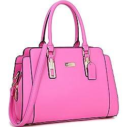 Dasein Women's Fashion Designer Satchel Handbags Purse Shoulder Bag Work Bag With Removable Shoulder Strap