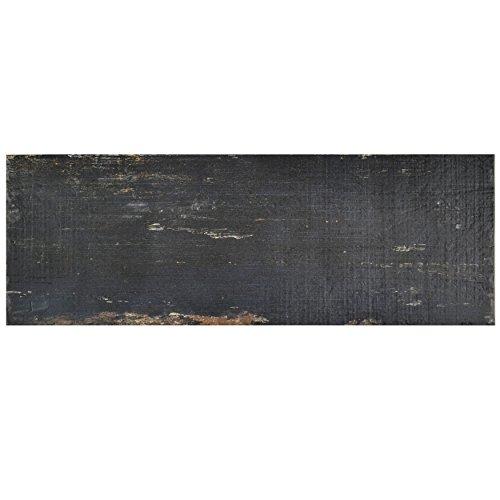 SomerTile Black/Brown FNURT8NG Vintage Porcelain Floor and Wall Tile 825quot x 235quot Negre 8 Piece