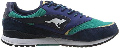 Kangaroos Frenzy Roos 002 B Herren Sneaker Blau - Bleu (Dk Navy/Smaragd 483)