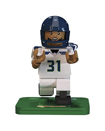 NFL GEN3 Seattle Seahawks Kam Chancellor Limited Edition Minifigures, Green, Small