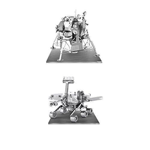 Metal Earth 3D Laser Models Spacecraft Set of 2 - Mars Rover, Apollo Lunar Module