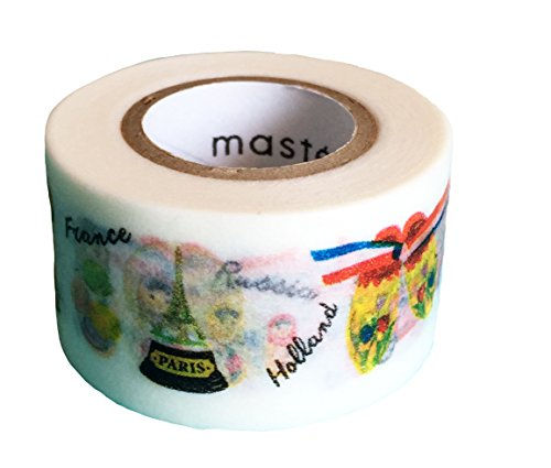 Mark's Maste Washi Masking Deco Tape Standard Souvenirs of The World Japan Edition (Deco Kawaii Tape Tape)