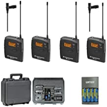 Sennheiser EW112P G3 A-Band Dual Wireless Lav Mic Bundle with SKB Hard Case and Extra Batteries