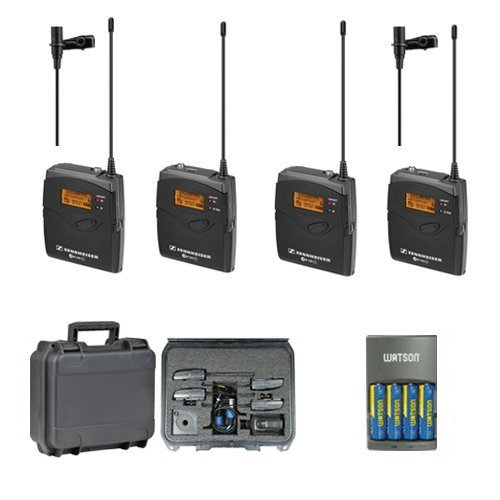 Sennheiser EW112P G3 A-Band Dual Wireless Lav Mic Bundle with SKB Hard Case and Extra - Lav Case