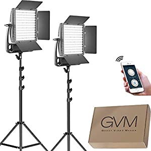 Flashandfocus.com 41wc8v-phuL._SS300_ GVM LED Video Light Kit,Dimmable Bi-Color Video Light with Stand and U Bracket,Ultra Bright 18000Lumen Photography…