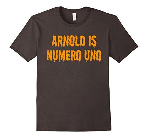 Mens ARNOLD IS NUMERO UNO SHIRT - ARNOLD HALLOWEEN COSTUME SHIRT Medium (Gym Bro Costume)