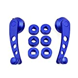 uxcell® Pair Universal Blue Aluminum Alloy Car Window Winder Door Crank Handle w Adaptors