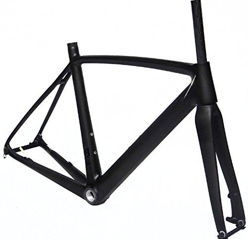フルカーボンマットマットディスクブレーキロードバイクサイクリングbb30フレームフォーク50 cm
