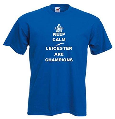 Keep Calm Leicester Ciudad Are Campeones Fútbol camiseta - S a 5XL: Amazon.es: Ropa y accesorios