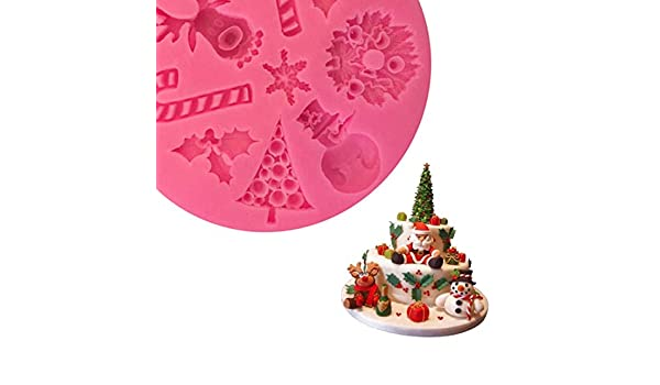 Amazon.com: Snowman Silicone Mold - Good Christmas Elk Cake Mold Silicone Snow Fondant Sugar Craft Decorating Snowman - Rope Sheet Ruffles People Fleur Lips ...