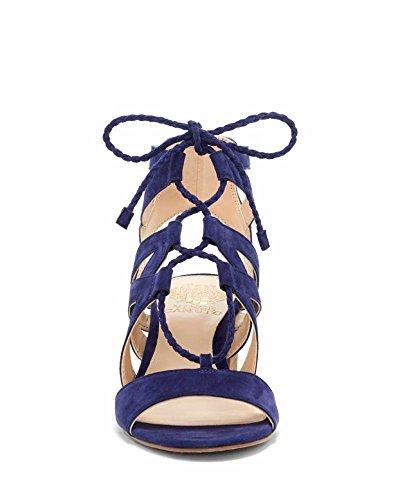 Dress Note True Sandal Fauna Women's Blue Camuto Vince Suede qYvtBwPn