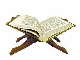 JBJ 15-Inch Wooden Book Holder with Brass Work