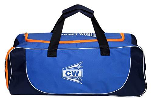 a454d0a143be C W CW Cricket Team Equipment Kit MAXIPAK Wheel Sports Gears Bag Blue Black  Orange (28.5X11.5X11.5)