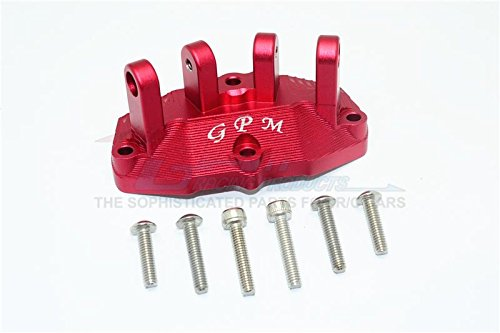 - GPM Losi 1/6 Super Baja Rey 4X4 Desert Truck Upgrade Parts Aluminum Mount For Upper Gearbox Rear Upper Suspension Links - 1Pc Set Red