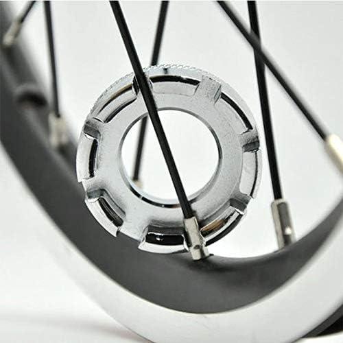 NiuCa Llave de llanta de Rueda de Ciclo de 6 Piezas, Herramienta de Llave de Rueda de pezón de Mini radios Universal para Construir, Reparar o enderezar Sus Ruedas de Ciclismo (Silve):