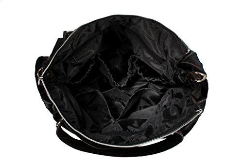 landuo 3colores Nueva Mujeres Del Bebé Pañales para pañales bolso de hombro bolsa grande naranja naranja negro