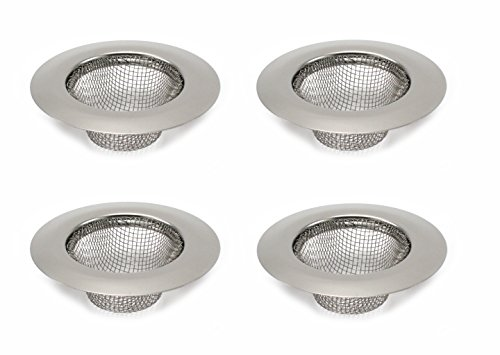 Elitexion 4pcs Bathroom Bathtub Sink Mesh Strainer Stainless Steel (Pack of 4)
