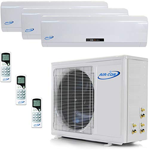 - Multi Zone Mini Split Ductless Air Conditioner – Tri Zone 9000 + 9000 + 12000 - Whisper Quiet High Efficiency - 3 Zone Pre-Charged Inverter Compressor - Premium Quality - USA Parts and Tech Support