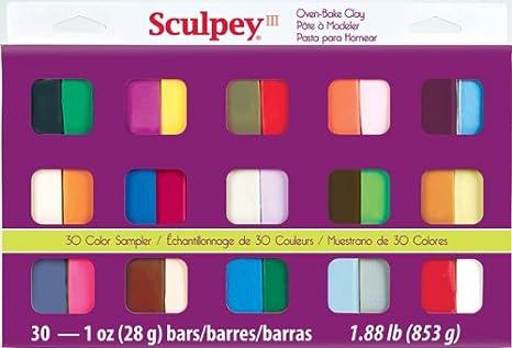 Amazon Sculpey Iii Oven Bake Clay Sampler 1oz 30pkg Toys Games