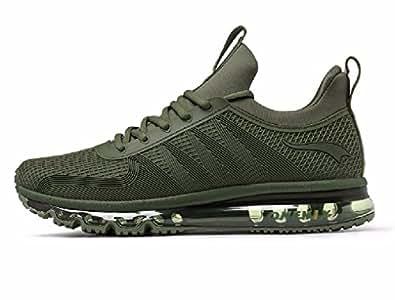 ONEMIX Men's Fashion Air Cushion Lightweight Sport Shoes Outdoor Running SneakerArmy Green44