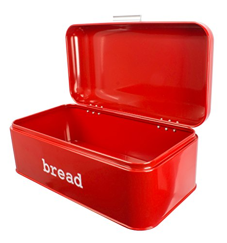 Bread-Box-For-Kitchen-Bread-Bin-Storage-Container-For-Loaves-Pastries-and-More-Retro-Vintage-Inspired-Design-Red-1675-x-9-x-65-Inches