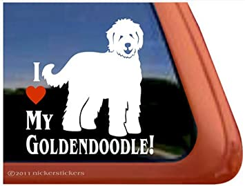 Amazoncom I Love My Goldendoodle Vinyl Window Decal Dog Sticker - Vinyl window decals amazon