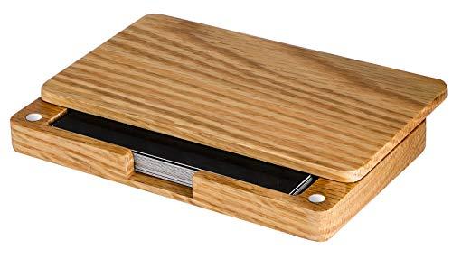 MaxGear Wood Business Card Holder Wood Business