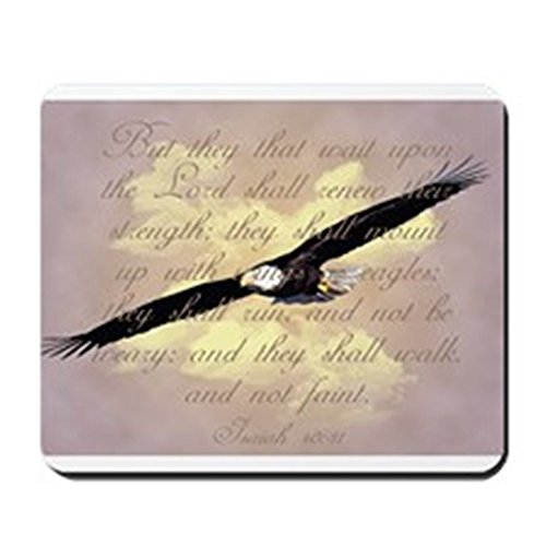 CafePress – Wings As Eagles Bible Verse – Mousepad