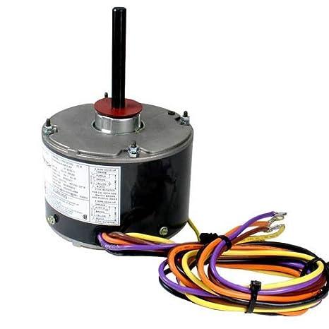 k55hxjkl 2918 oem upgraded emerson condenser fan motor 1 5 hp 208 230 volts 1075 rpm 5 wire motor wiring diagram electric motors hvac condenser fan