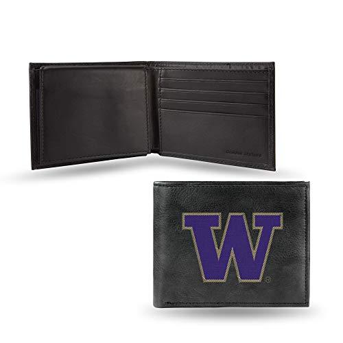 (Rico Industries NCAA Washington Huskies Embroidered Leather Billfold Wallet)