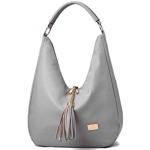 Oversized Hobo Purses Handbags for Women Ladies Leather Shoulder Bag with - Hobo Charm Bag