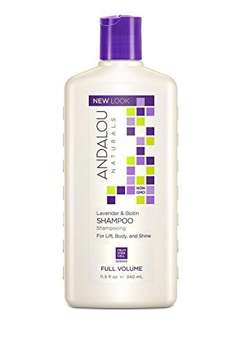 Andalou Naturals Lavender and Biotin Full Volume Shampoo, 11.5 Ounce (Andalou Lavender & Biotin Full Volume Shampoo)