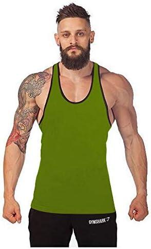 タンクトップ メンズ フィットネストレーニングベストメンズラウンドネックI字型ノースリーブボトシャツコットンストレッチノースリーブスポーツシャツ 夏 スポーツ フィットネス (色 : C8, Size : XXL)