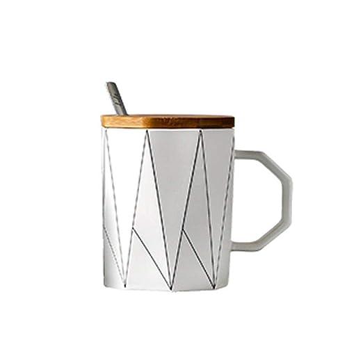 WSHP-Mug Env Taza Gift Taza Geométrica Mate Creativa Con Cuchara ...