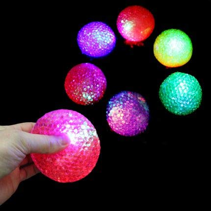 JA-RU Light Up Bead Ball Squeezing Stress Relief Ball (Pack of 72 Units) and One Bouncy Ball - for Kids & Adults Item #4205-72 by JA-RU (Image #2)