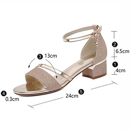 40 Or Mode Été Chaussures Taille couleur Femme Or Sandales Hwf Wq8wxZg1