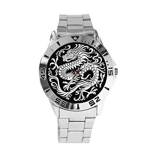 Oriental Gifts - Custom Image Stainless Steel Analogue Men