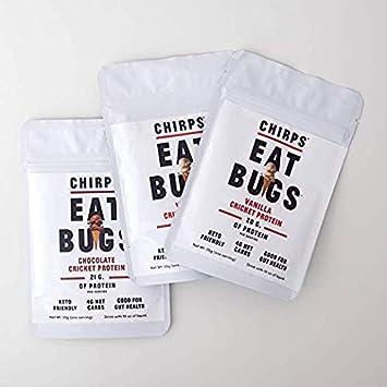Amazon.com: Polvo de proteína Chirps para una porción (3 ...
