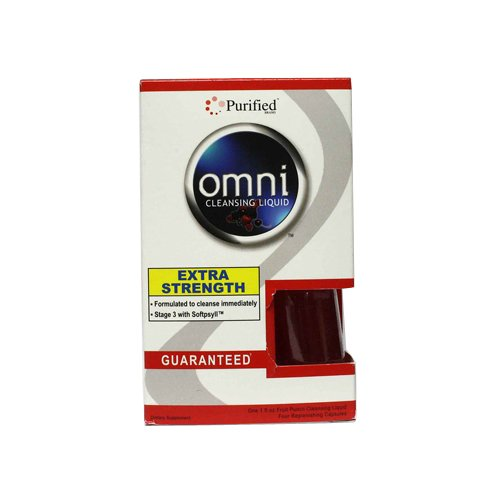 Heaven Sent Omni Cleansing Liquid Concentrate Plus 4 Cleansing Caps Fruit Punch, 1 Ounce