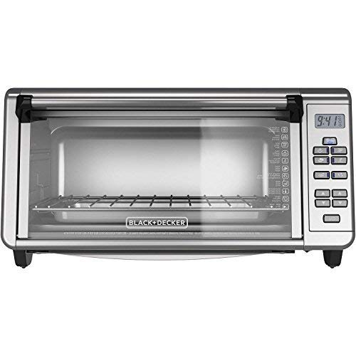 BLACK + DECKER TO3290XG Extra Wide Digital Toaster Convection Oven, Silver