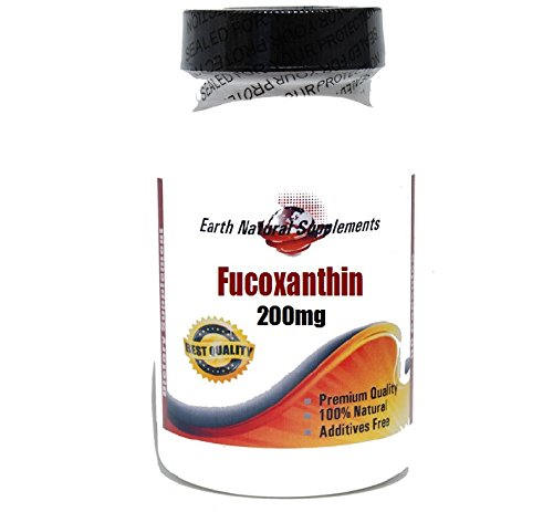 Fucoxanthin 200mg * 200 Capsules 100 % Natural - by EarhNaturalSupplements by Premium