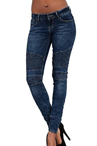Tasche Matita Donna Skinny Elasticizzati Slim Strappati Darkblue1 Con Fit Giovane Affusolati A Pantaloni Jeans Z5wqPW6xzx