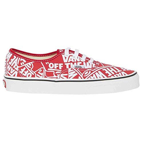 (Vans Mens U Authentic OTW Repeat RED True White Size 6)