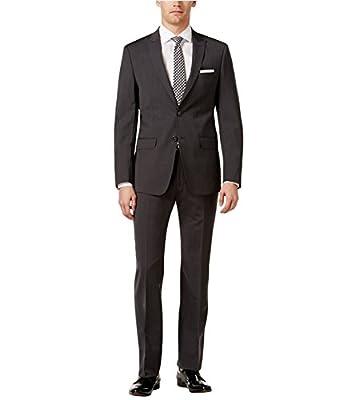 Calvin Klein Mens Pin Stripe Two Button Suit