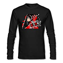 Futhure Men's Persona 5 Long Sleeve DIY T Shirt