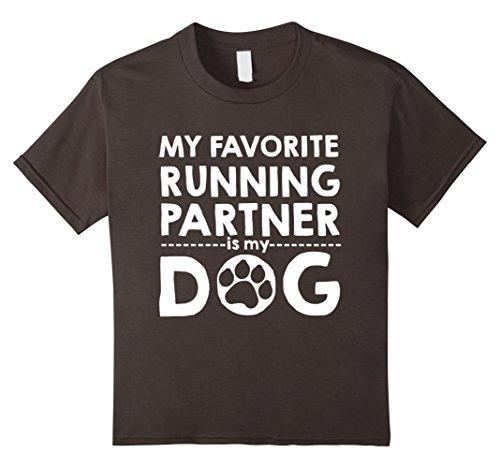Partner Costume Ideas (Kids My Favorite Running Partner Is My Dog T-Shirt funny saying 12 Asphalt)