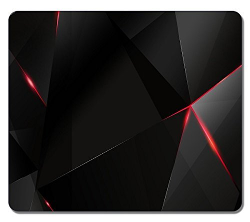 Creative Painting Custom Rectangle Black And Red Abstract 07 Large Mouse Pad High Quality Durable Mouse Mat Gaming Mouse Pad
