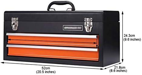 Diseño portátil Caja de Herramienta del hogar, Acero for Herramientas de Caja del cajón de la Bola de Almacenamiento Caja de Metal, 2 Colores Opcionales Fuerte y Robusto (Color : 2 Drawers):