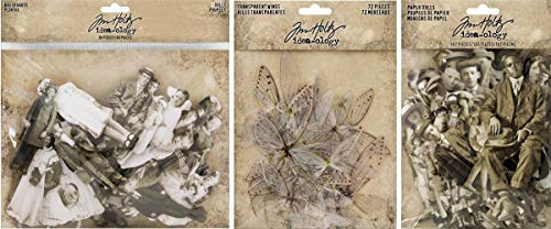 Idea-ology Tim Holtz Baseboard Dolls, Paper Dolls and Transparent Wings - 3 Item Bundle ()